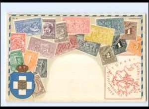 XX009156/ Griechenland Briefmarken Litho AK ca.1912