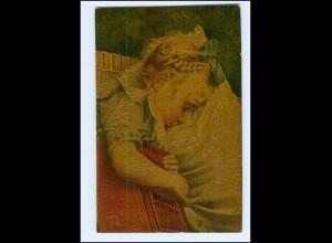 Y15047/ Degi-Gemälde AK kleines Mädchen schläft von A.v. Riesen ca.1915