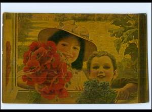 Y15049/ Degi-Gemälde AK Kinder Junge und Mädchen von C. Bergen ca.1915