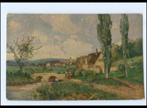 Y15053/ Degi-Gemälde AK Am Main von G.M. Meinzolt 1917