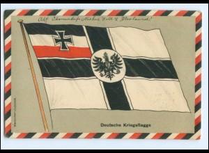 XX009001/ Deutsche Kriegsflagge 1. Weltkrieg Litho AK 1915