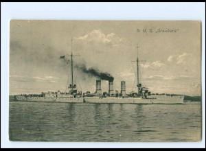 XX008968/ Kriegsschiff S.M.S. Graudenz + Schiffspost Nr. 200 1915