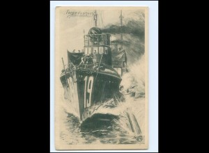 XX008964/ Torpedoboot Marine 1. Weltkrieg + Schiffspost 200 1916