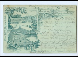XX008736/ Gruß aus Georgmarienhütte 1896 Litho AK