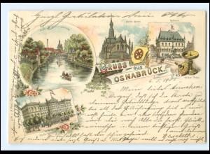 XX008758/ Gruß aus Osnabrück 1901 Litho AK