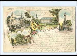 XX008756/ Gruß aus Osnabrück 1900 Litho AK
