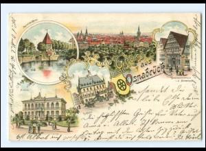 XX008757/ Gruß aus Osnabrück 1901 Litho AK