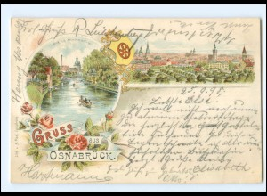 XX009026/ Gruß aus Osnabrück Litho AK 1898