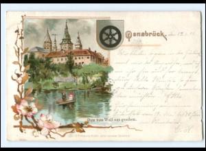 XX008745/ Osnabrück Dom vom Wall aus gesehen 1899 Litho AK