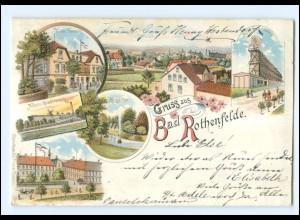 XX008751/ Gruß aus Bad Rothenfelde 1897 Litho AK