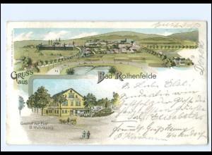 XX008749/ Gruß aus Bad Rothenfelde 1897 Litho AK