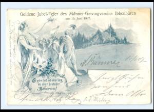 XX008491/ Ibbenbüren Goldene Jubel-Feier des Männer-Gesangvereins 1907 AK