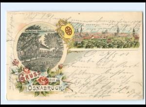 XX009027/ Gruß aus Osnabrück Kaffeehaus Barenteich Litho AK 1901