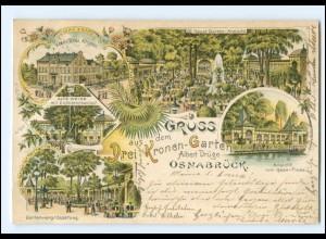 XX008606/ Gruß aus Osnabrück Hotel Drei Kronen Litho AK 1900