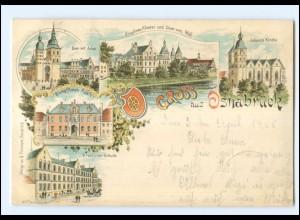 XX008754/ Gruß aus Osnabrück 1900 Litho AK