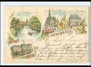 XX008755/ Gruß aus Osnabrück 1899 Litho AK