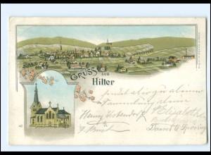 XX008493-4517/ Gruß aus Hilter Litho AK 1897