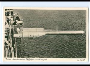 XX008954/ Kriegsmarine Abschießen eines Torpedo Foto AK ca.1940