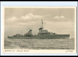XX008959/ Zerstörer Z 1 Leberust Maaß Marine Foto AK ca.1940