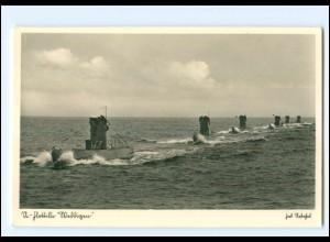 XX008963/ U-Boot Flottille Weddigen Marine Foto AK ca.1940