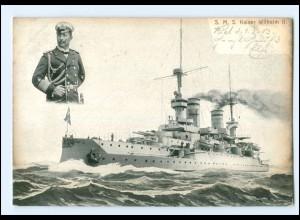 XX008966/ Kriegsschiff S.M.S. Kaiser Wilhelm II. AK 1903