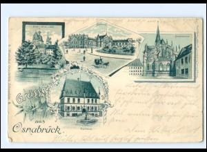 XX008737/ Grüße aus Osnabrück 1902 Litho AK