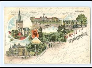XX008759/ Gruß aus Osnabrück 1902 Litho AK