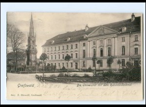 XX008699/ Greifswald Universität mit Rubenowdenkmal 1904 AK