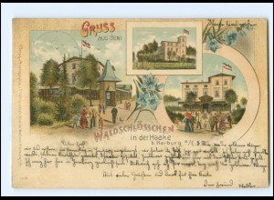 XX008792/ Hamburg Waldschlösschen in der Haake bei Harburg 1899 Litho AK