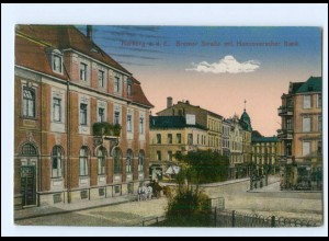 XX008767/ Hamburg Harburg Bremer Straße mit Hannoversche Bank 1916 AK