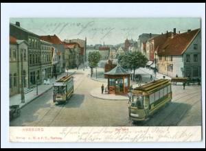 XX008775/ Hamburg Harburg Der Sand Straßenbahn 1904 AK