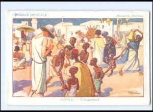 XX009017/ Croquis D`Escale Dschibuti Ostafrika Künstler AK H. Gervese Maritim