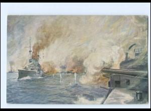 XX008971/ Seeschlacht bei Coronel (Chile) Marien Scharnhorst, Gneisenau AK