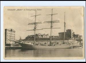 U9287/ Königsberg Schulschiff Niobe im Hafen AK Segelschiff