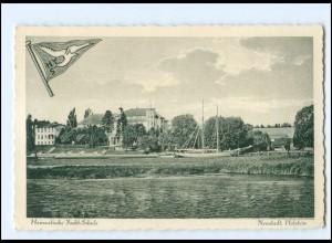 U9249/ Neustadt Holstein Hanseatische-Yacht-Schule AK ca.1925