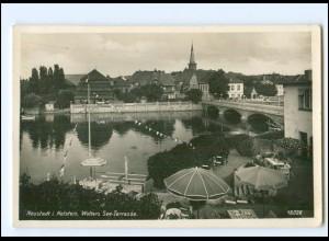 U9244/ Neustadt Holstein Wolters See-Terrasse Foto AK ca.1935