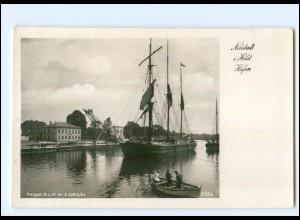 U9243/ Neustadt Holstein Hafen Segelschiff Foto AK 1942