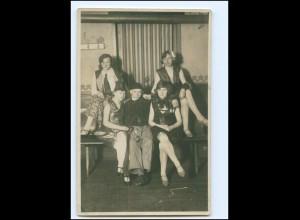 U9234/ Karneval Foto AK junge Frauen ca. 1920