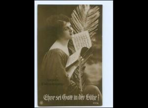Y15105/ Weihnachten junge Frau , Ehre sei Gott in der Höhe! NPG Foto AK 1925