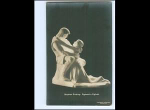 Y15083/ Skulptur Stephan Sinding: Sigmund u. Siglinde Foto AK ca.1912