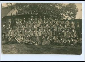 Y15486/ Schützenfest Musikkapelle Foto AK ca.1920