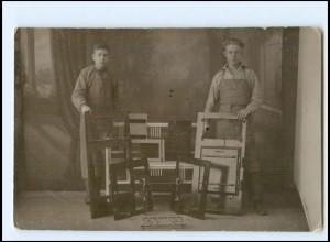 Y15243/ Tischler Berufe Foto AK ca.1920
