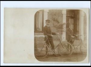 U9307/ Fahrrad schöne Foto AK 1909