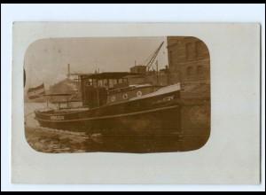 Y15245/ Hamburg Hafenpolizei VIII Foto AK 1908 Hafen