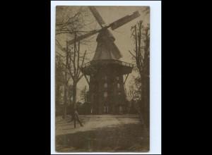 Y16263/ Mühle Windmühle Foto AK ca.1920 Ort ?