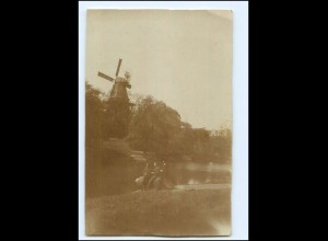 Y15992/ Windmühle Foto AK Ort? ca.1920