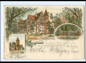 Y15378/ Gruß aus Hannover Lister Turm 1906 AK