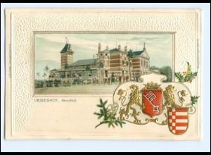 Y15237/ Bremen Vegesack schöne Litho Präge Wappen AK 1908