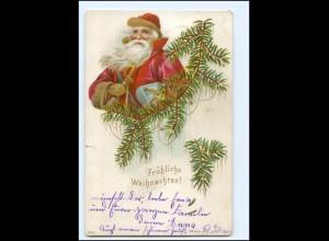 Y15240/ Weihnachten Weihnachtsmann Litho AK 1909
