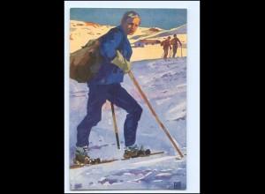 Y15241/ Skifahren Künstler AK ca.1912